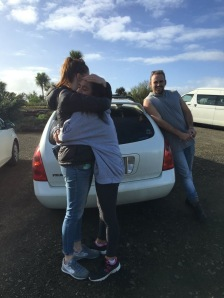 Miryam & Julina say goodbye after 3 wonderful, intense days on set